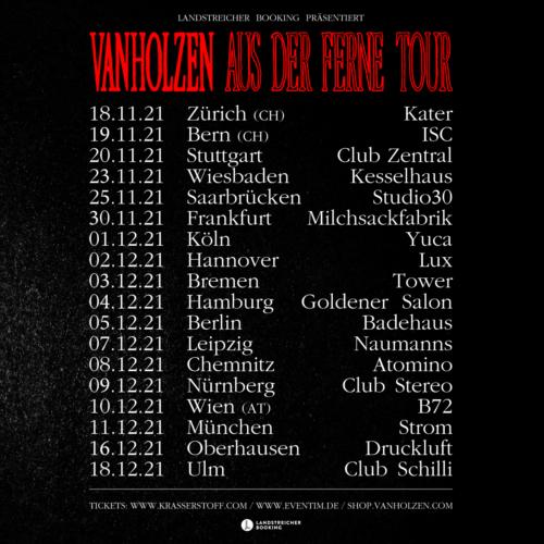 """Tourdaten der """"Aus der Ferne"""" Tour"""