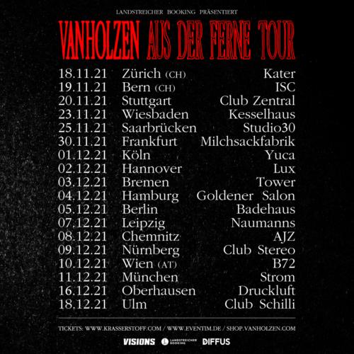 Tourdaten der Aus der Ferne Tour 2021